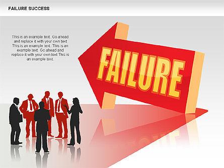 Failure and Success Diagrams, Slide 14, 00383, Silhouettes — PoweredTemplate.com
