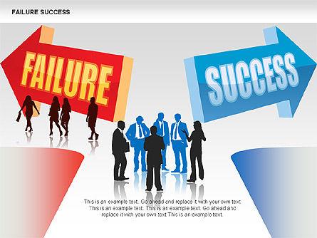 Failure and Success Diagrams, Slide 2, 00383, Silhouettes — PoweredTemplate.com