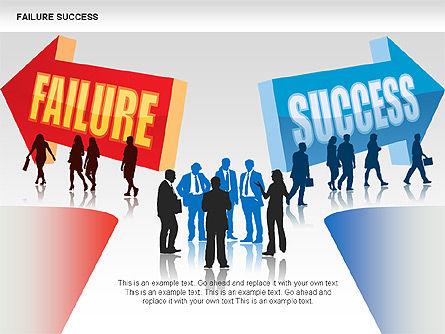 Failure and Success Diagrams, Slide 3, 00383, Silhouettes — PoweredTemplate.com