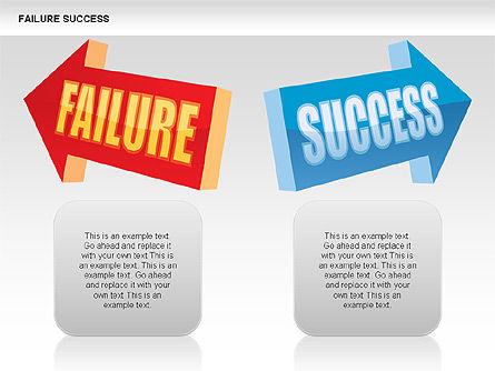 Failure and Success Diagrams, Slide 4, 00383, Silhouettes — PoweredTemplate.com