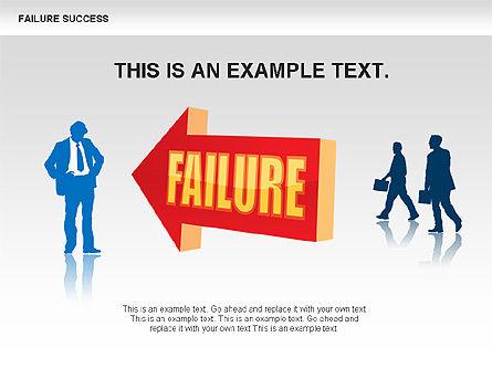 Failure and Success Diagrams, Slide 5, 00383, Silhouettes — PoweredTemplate.com