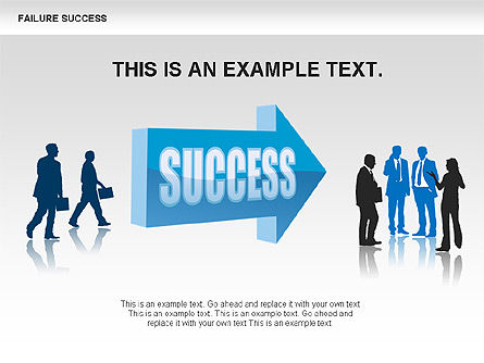 Failure and Success Diagrams, Slide 6, 00383, Silhouettes — PoweredTemplate.com