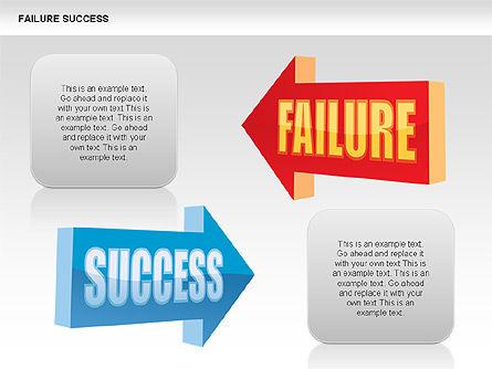 Failure and Success Diagrams, Slide 7, 00383, Silhouettes — PoweredTemplate.com