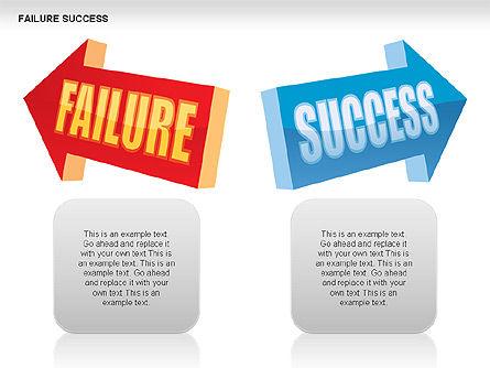 Failure and Success Diagrams, Slide 8, 00383, Silhouettes — PoweredTemplate.com