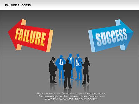 Failure and Success Diagrams, Slide 9, 00383, Silhouettes — PoweredTemplate.com