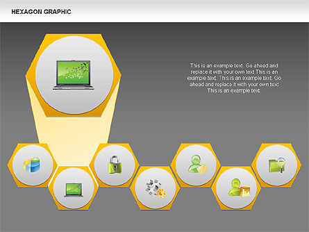 Hexagon Shapes and Diagrams, Slide 10, 00385, Shapes — PoweredTemplate.com