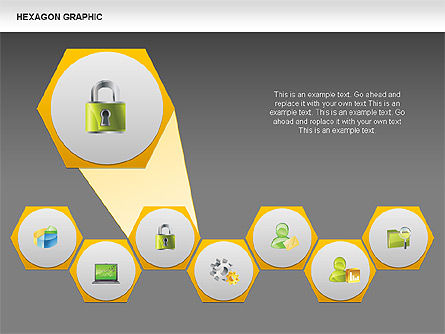 Hexagon Shapes and Diagrams, Slide 11, 00385, Shapes — PoweredTemplate.com