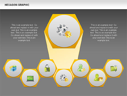 Hexagon Shapes and Diagrams, Slide 12, 00385, Shapes — PoweredTemplate.com