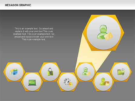 Hexagon Shapes and Diagrams, Slide 13, 00385, Shapes — PoweredTemplate.com