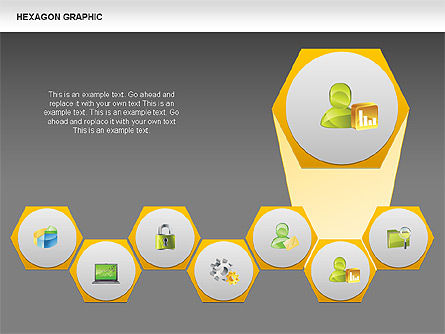 Hexagon Shapes and Diagrams, Slide 14, 00385, Shapes — PoweredTemplate.com