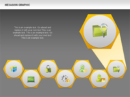 Hexagon Shapes and Diagrams, Slide 15, 00385, Shapes — PoweredTemplate.com