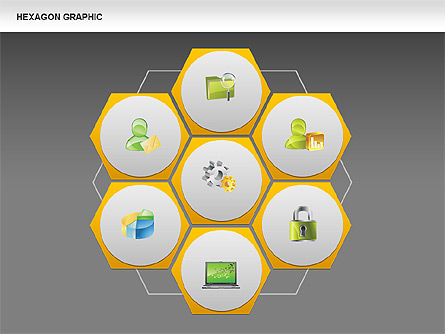 Hexagon Shapes and Diagrams, Slide 16, 00385, Shapes — PoweredTemplate.com