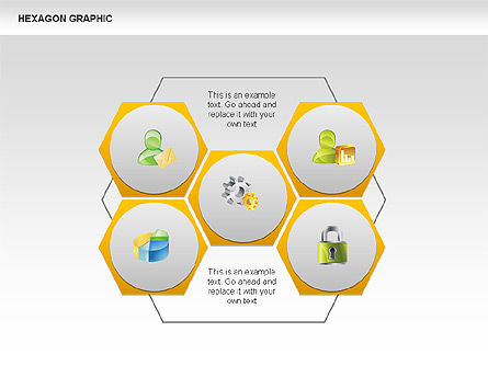 Hexagon Shapes and Diagrams, Slide 17, 00385, Shapes — PoweredTemplate.com