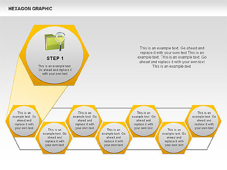 Hexagon Shapes and Diagrams, Slide 2, 00385, Shapes — PoweredTemplate.com