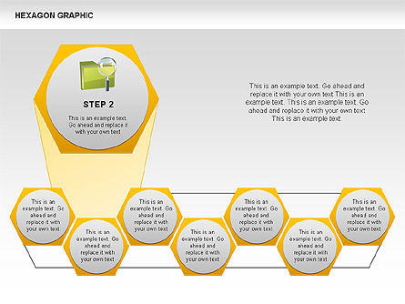 Hexagon Shapes and Diagrams, Slide 3, 00385, Shapes — PoweredTemplate.com