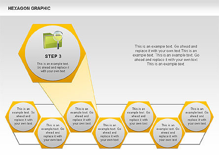 Hexagon Shapes and Diagrams, Slide 4, 00385, Shapes — PoweredTemplate.com