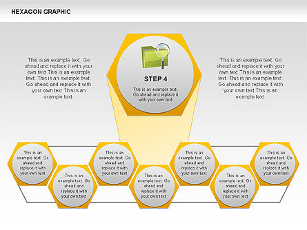 Hexagon Shapes and Diagrams, Slide 5, 00385, Shapes — PoweredTemplate.com