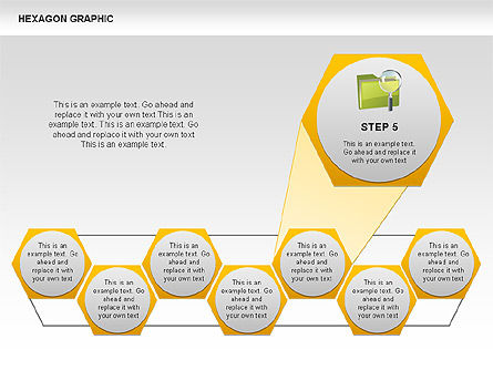 Hexagon Shapes and Diagrams, Slide 6, 00385, Shapes — PoweredTemplate.com