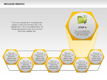 Hexagon Shapes and Diagrams, Slide 7, 00385, Shapes — PoweredTemplate.com