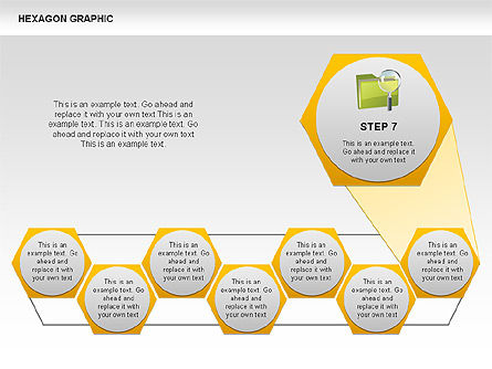 Hexagon Shapes and Diagrams, Slide 8, 00385, Shapes — PoweredTemplate.com