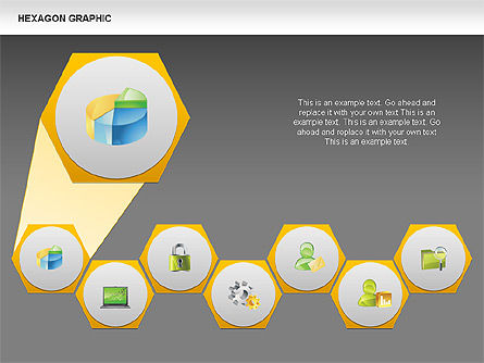Hexagon Shapes and Diagrams, Slide 9, 00385, Shapes — PoweredTemplate.com