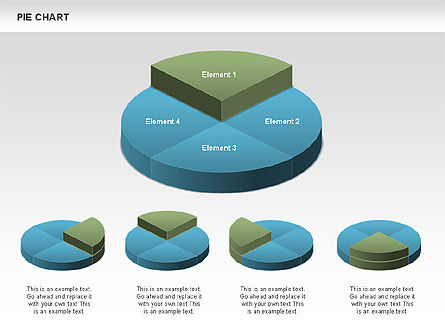 3D Pie Charts, Slide 2, 00386, Pie Charts — PoweredTemplate.com