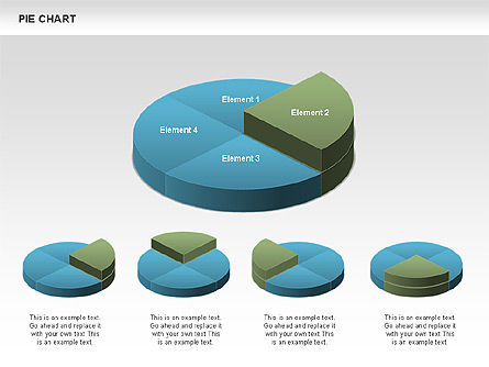 3D Pie Charts, Slide 3, 00386, Pie Charts — PoweredTemplate.com