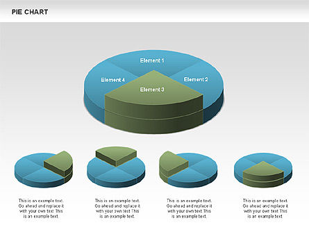 3D Pie Charts, Slide 4, 00386, Pie Charts — PoweredTemplate.com