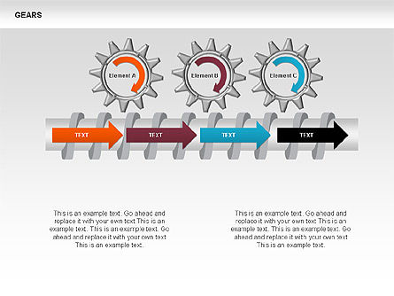 3D Gears Stage Diagrams, Slide 3, 00387, Stage Diagrams — PoweredTemplate.com