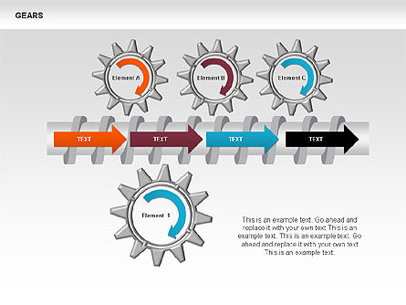 3D Gears Stage Diagrams, Slide 4, 00387, Stage Diagrams — PoweredTemplate.com