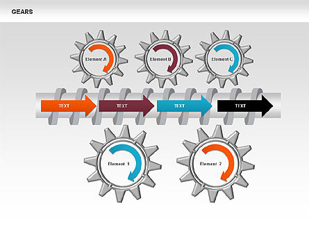 3D Gears Stage Diagrams, Slide 5, 00387, Stage Diagrams — PoweredTemplate.com