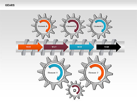 3D Gears Stage Diagrams, Slide 6, 00387, Stage Diagrams — PoweredTemplate.com