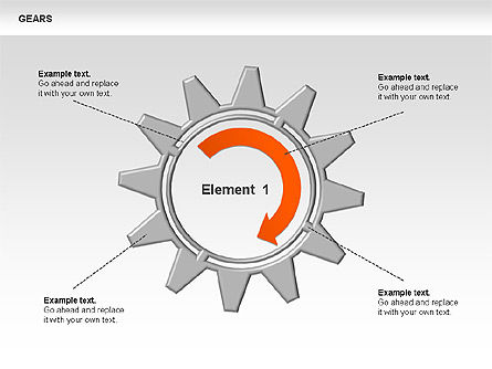 3D Gears Stage Diagrams, Slide 7, 00387, Stage Diagrams — PoweredTemplate.com