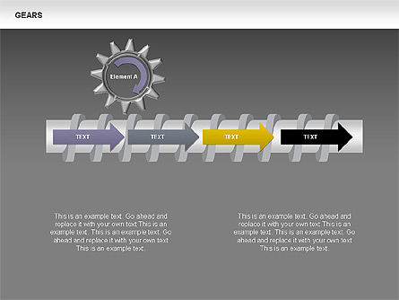 3D Gears Stage Diagrams, Slide 9, 00387, Stage Diagrams — PoweredTemplate.com