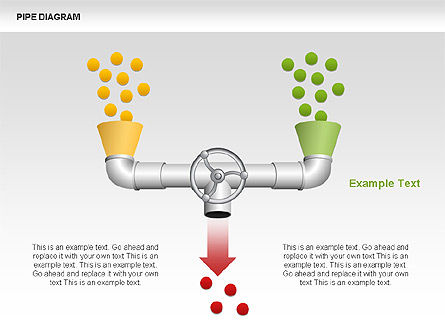 Pipe Diagrams, Slide 3, 00390, Process Diagrams — PoweredTemplate.com