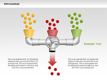 Pipe Diagrams, Slide 4, 00390, Process Diagrams — PoweredTemplate.com