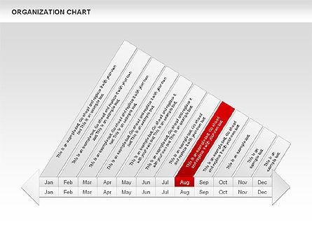 Crest Timeline Charts, Slide 12, 00391, Timelines & Calendars — PoweredTemplate.com