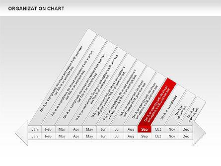 Crest Timeline Charts, Slide 13, 00391, Timelines & Calendars — PoweredTemplate.com