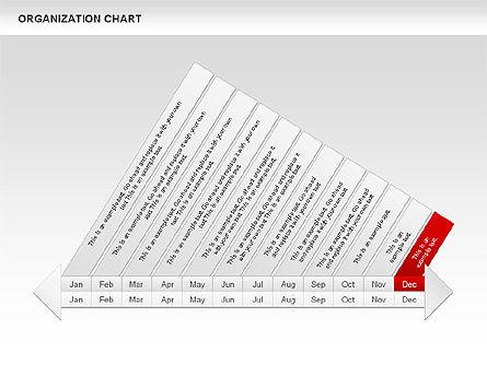 Crest Timeline Charts, Slide 16, 00391, Timelines & Calendars — PoweredTemplate.com