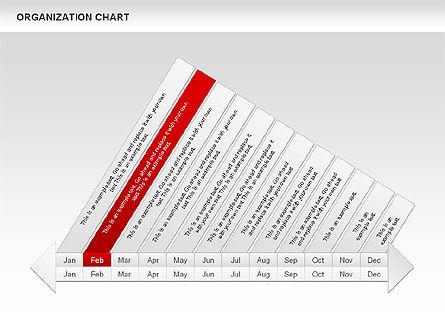 Crest Timeline Charts, Slide 6, 00391, Timelines & Calendars — PoweredTemplate.com