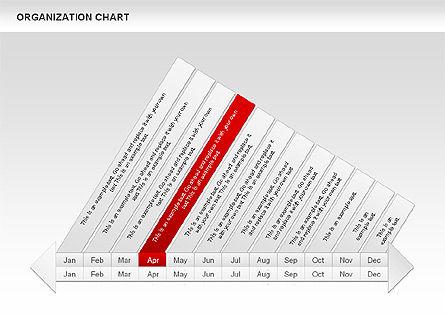 Crest Timeline Charts, Slide 8, 00391, Timelines & Calendars — PoweredTemplate.com