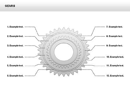 3D Gears Shapes and Diagrams, Slide 11, 00396, Shapes — PoweredTemplate.com