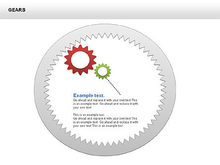 3D Gears Shapes and Diagrams, Slide 12, 00396, Shapes — PoweredTemplate.com
