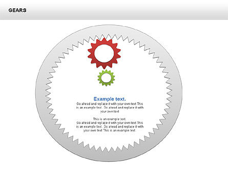 3D Gears Shapes and Diagrams, Slide 13, 00396, Shapes — PoweredTemplate.com