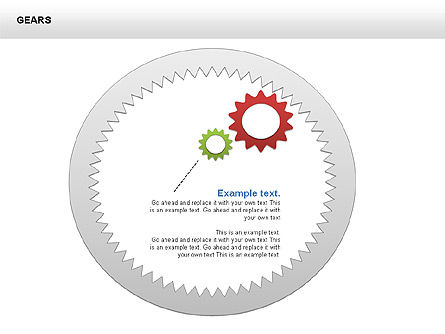 3D Gears Shapes and Diagrams, Slide 14, 00396, Shapes — PoweredTemplate.com
