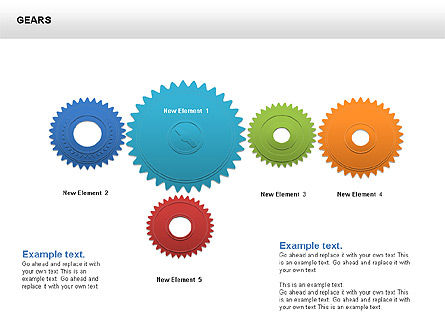 3D Gears Shapes and Diagrams, Slide 2, 00396, Shapes — PoweredTemplate.com