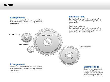3D Gears Shapes and Diagrams, Slide 3, 00396, Shapes — PoweredTemplate.com