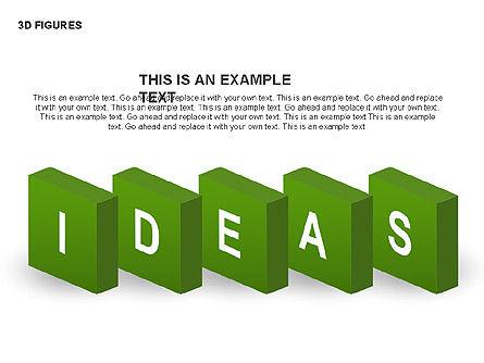 3D Objects, Slide 8, 00398, Shapes — PoweredTemplate.com