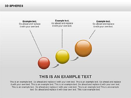 3D Sphere Shapes, Slide 2, 00399, Shapes — PoweredTemplate.com