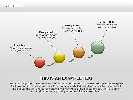 3D Sphere Shapes, Slide 3, 00399, Shapes — PoweredTemplate.com